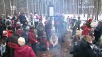 Turisté Silvestra oslavili o den dříve v přírodě.