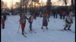 Na Ratajích se opět jel memoriál na historických lyžích.