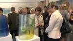 Jaroslav Matouš vystavuje obrazy a skleněné plastiky