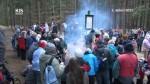 Turisté oslavili Silvestra u pramene Chrudimky