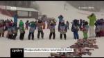 Předposlední lekce lyžařských kurzů