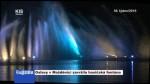 Oslavy v Možděnici završila hasičská fontána