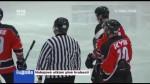 Hokejové utkání plné hrubosti