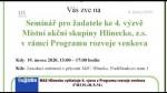 06/2020 MAS Hlinecko vyhlašuje 4. výzvu z Programu rozvoje venkova