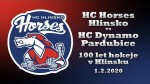 1.2.2020  HC Horses Hlinsko – HC Dynamo Pardubice – 100 let hokeje v Hlinsku