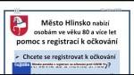 04/2021 Hlinsko pomáhá s registrací na očkování proti COVID 19